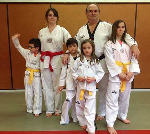 La famille Brunon au Taekwondo
